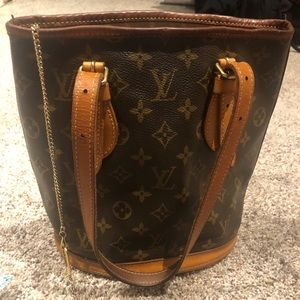 Louis Vuitton Petit Monogram Bucket Bag